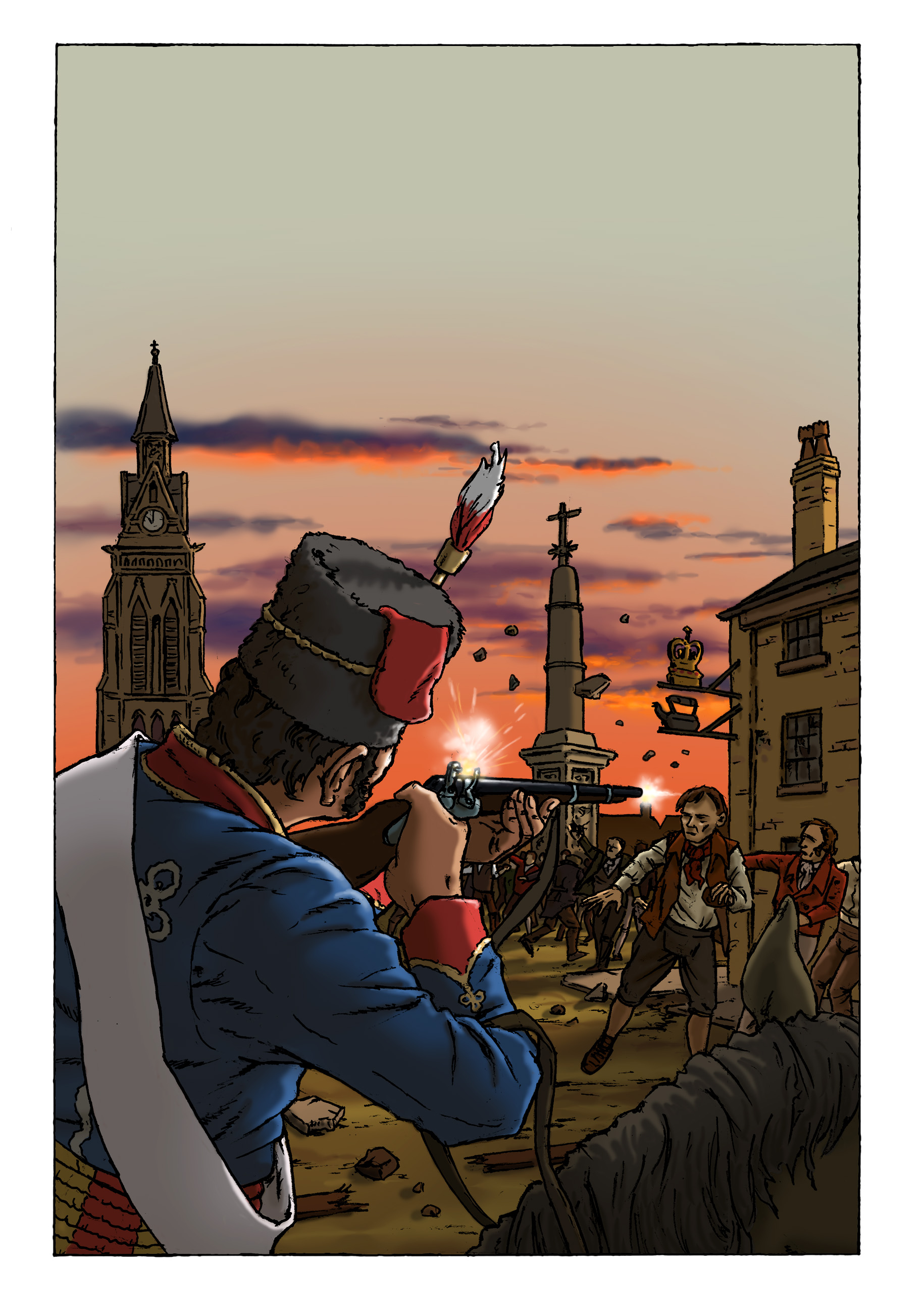 16 Aug evening. P74 - Peterloo Graphic Novel.