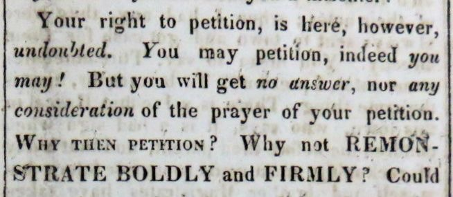 1817 Jan Petitioning campaign