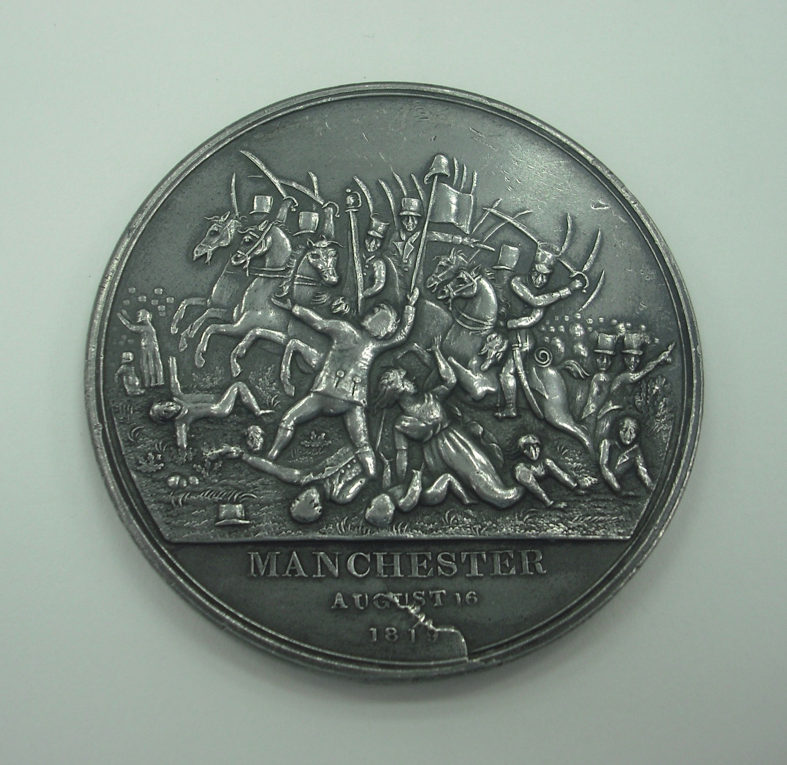 Peterloo medal 1. Photo: People's History Museum.