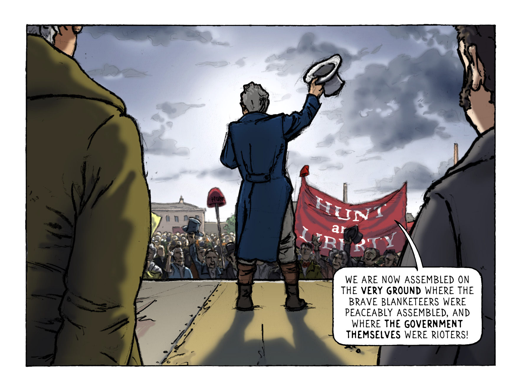 1819 Jan 18 Hunt Manchester. Photo: Peterloo Graphic Novel