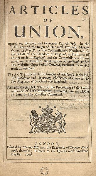 Articles of Union, 1707