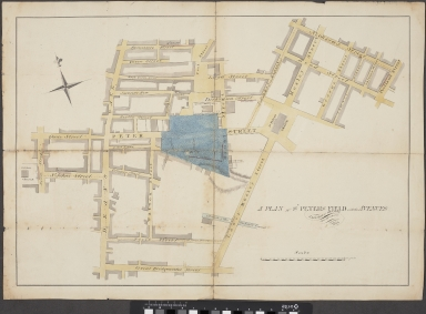 Plan of St Peters Field with the Avenues leading thereto. The University of Manchester Library, UK