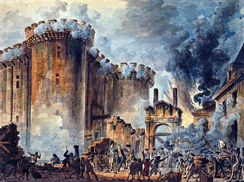 The storming of the Bastille, July 14, 1789. © The National Gallery, The Bridgeman Art Library.
