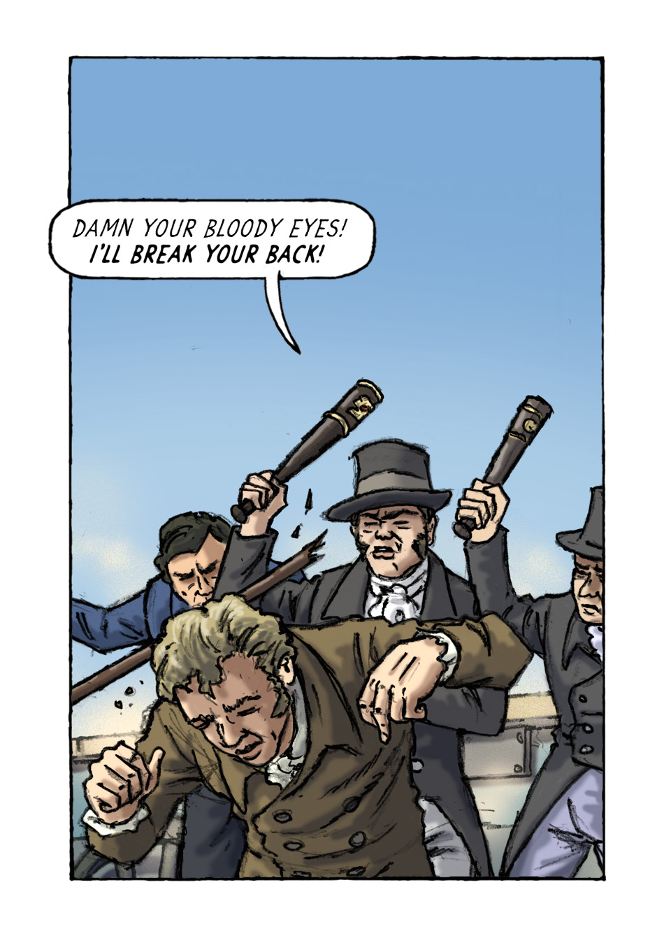 Page 67 John Lees Assault. Peterloo Graphic Novel.