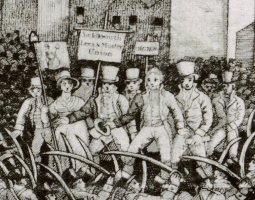 Peterloo Slack MCL 3 hustings. Manchester Archives & Local Studies
