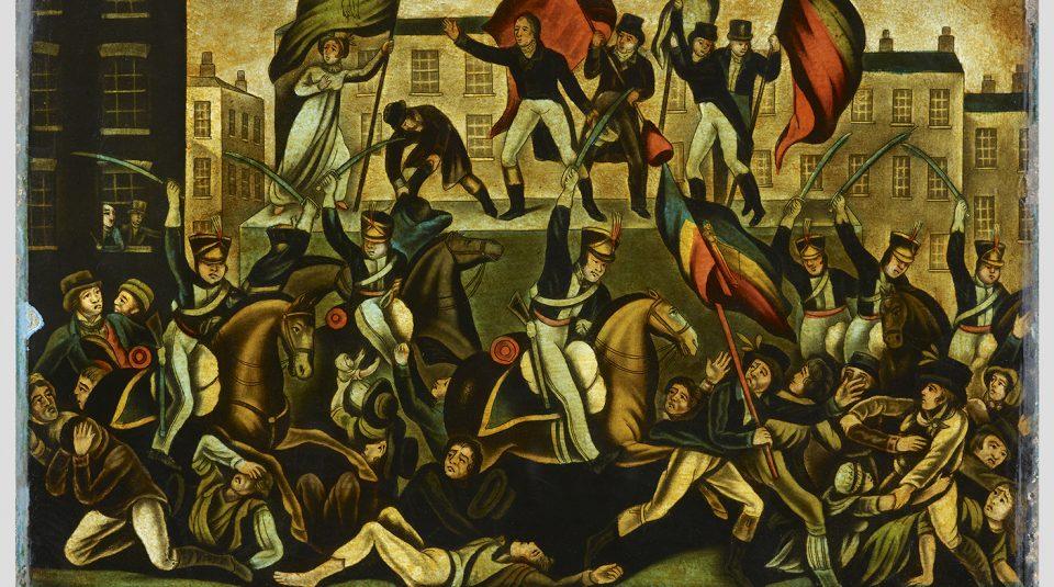 Peterloo Massacre 1819, commemorative glass © People's History Museum
